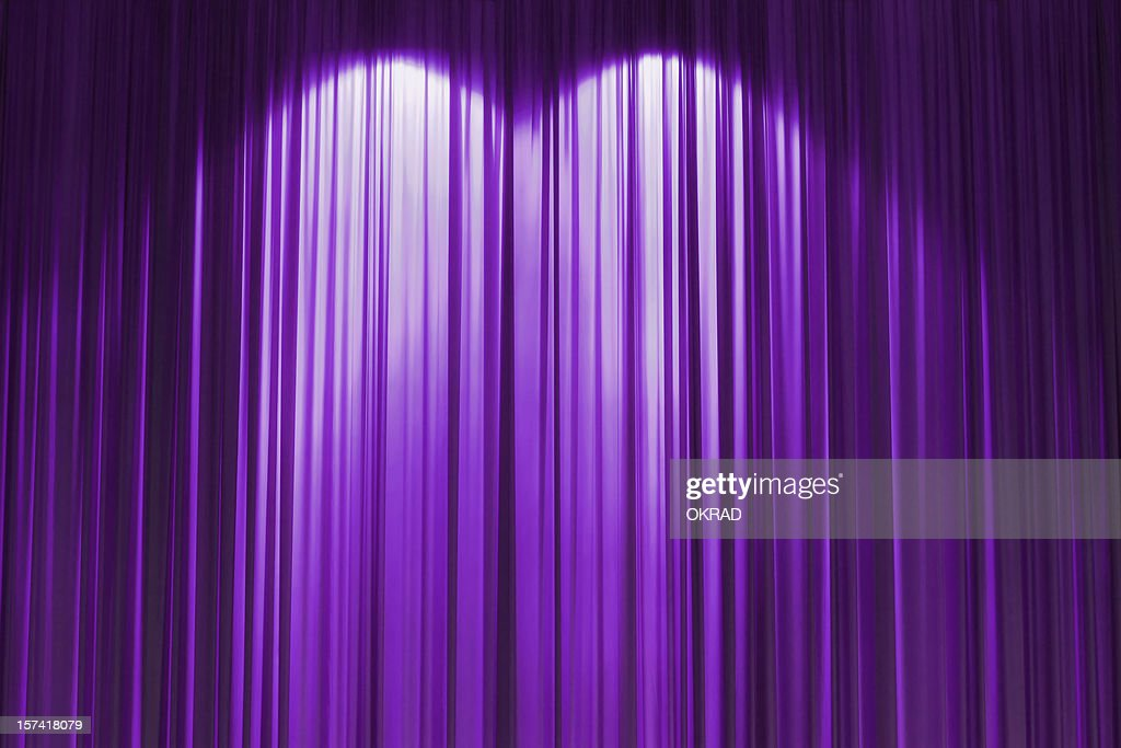 Purple stage curtain wallpaper background stock photo