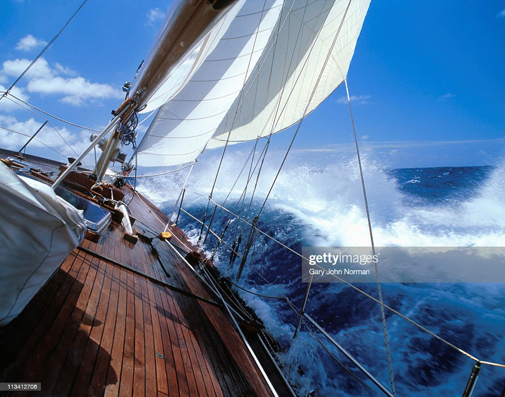 Rolling Deck Prix Rolling Deck Of Yacht Crashing Through Waves Photo Getty
