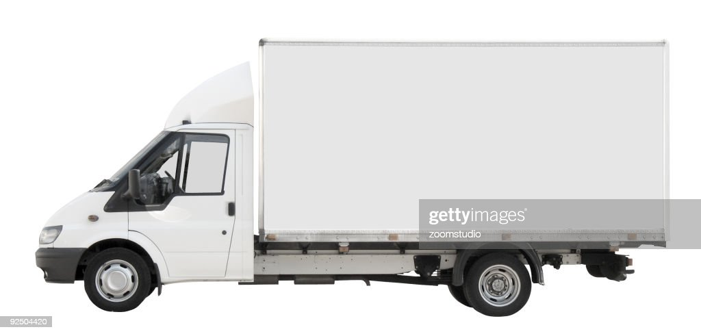 White delivery truck stock photos and pictures getty images