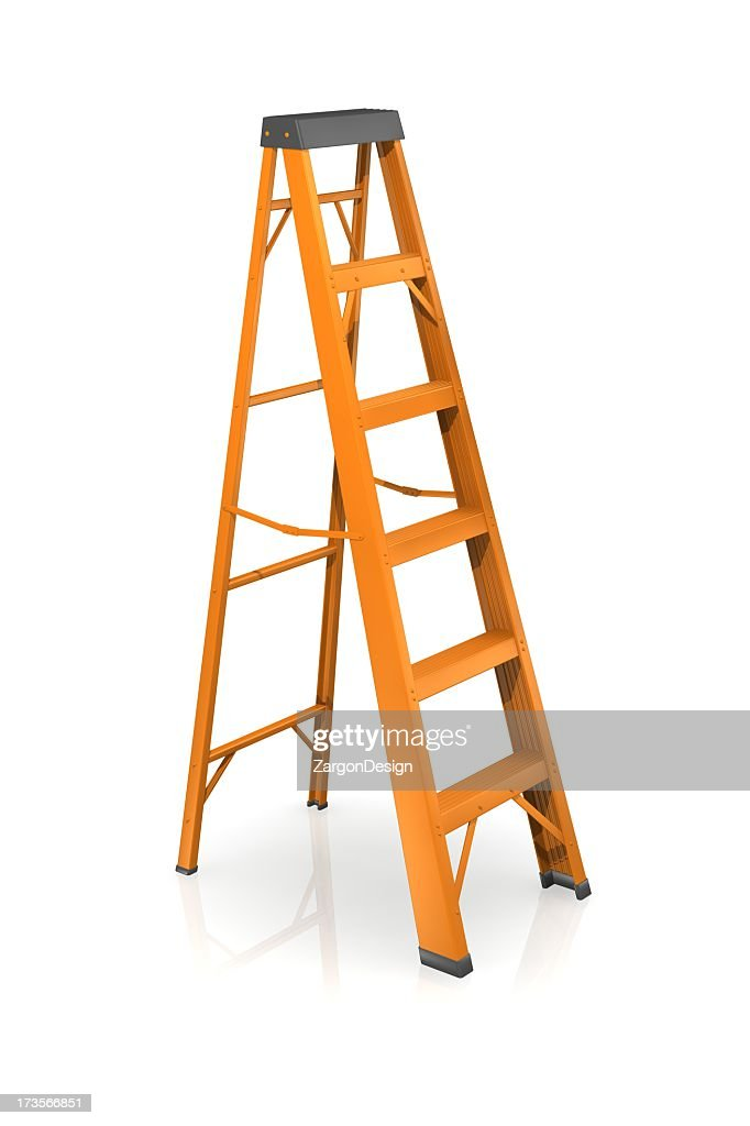 Step Ladder Ready To Help You Reach New Heights Stock