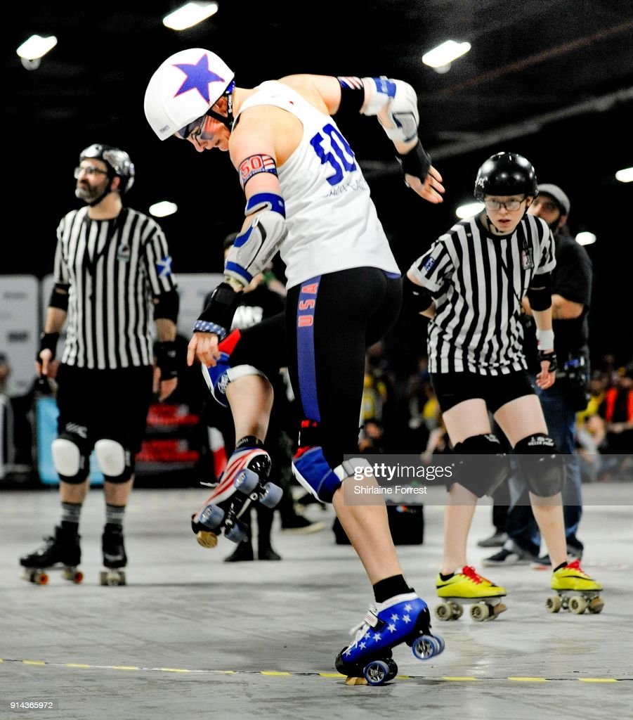 Roller Australia Team Usa And Team Australia Compete In Roller Derby World Cup At
