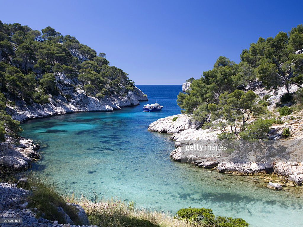 Location Canoe Cassis The Calanque De Portpin Cassis France Stock Photo Getty Images