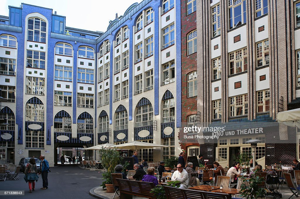 Courtyard Berlin Mitte The Hackesche Hofe In Berlin Mitte Stock Photo | Getty Images