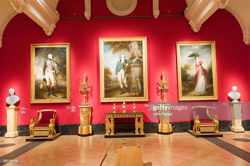 Lampen Queens Gallery The Queens Gallery Buckingham Palace London Stock Photo