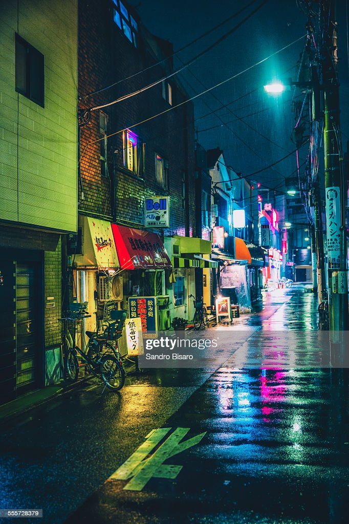 Japan Hd Wallpaper Tokyo Rainy Streets At Night Stock Photo Getty Images