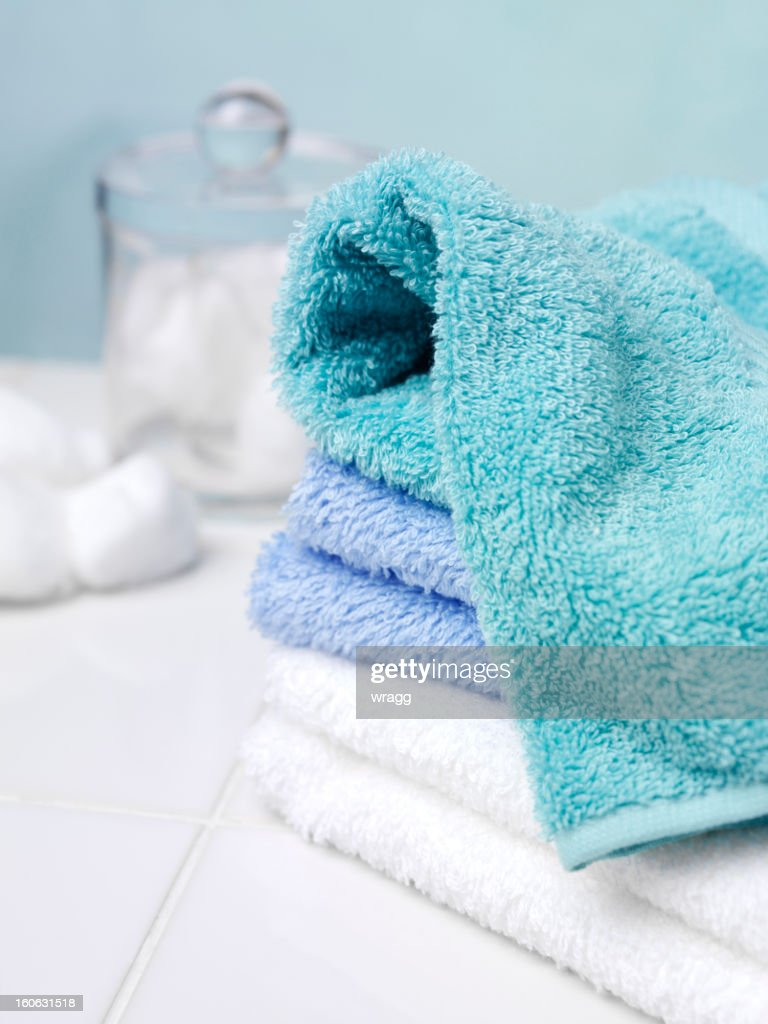 Badezimmer Handtücher Handtücher Im Badezimmer Stock Foto Getty Images