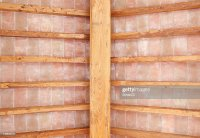 Tuscan Traditional Wood Beam Ceiling And Red Bricks ...
