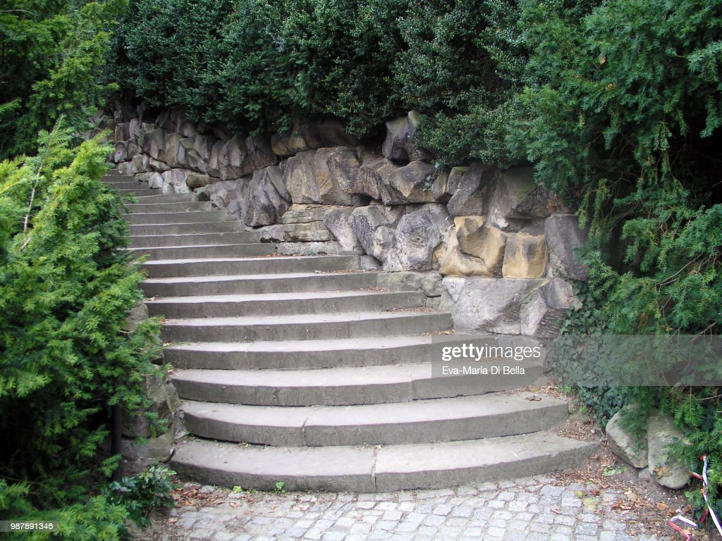 Steintreppe Wohin Steintreppe In Einem Park Stock Photo Getty Images