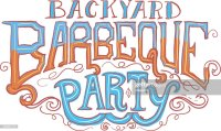 Backyard Barbeque Party Label Vector Art