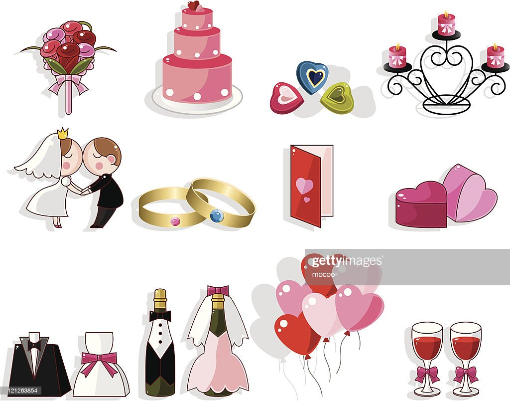 Hochzeit Comic Comic Hochzeit Iconset Stock Illustration Getty Images