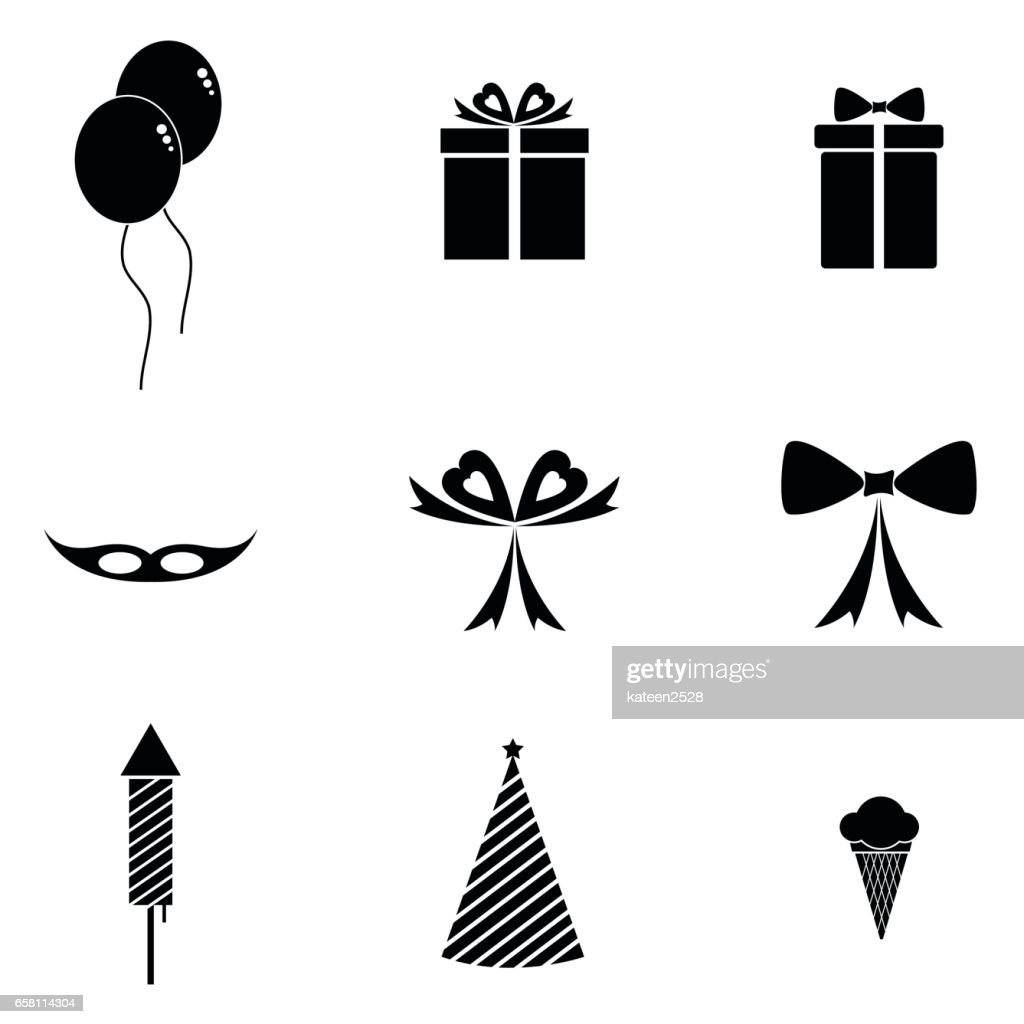 Feier Party Feier Party Icons Set Vektorgrafik Getty Images