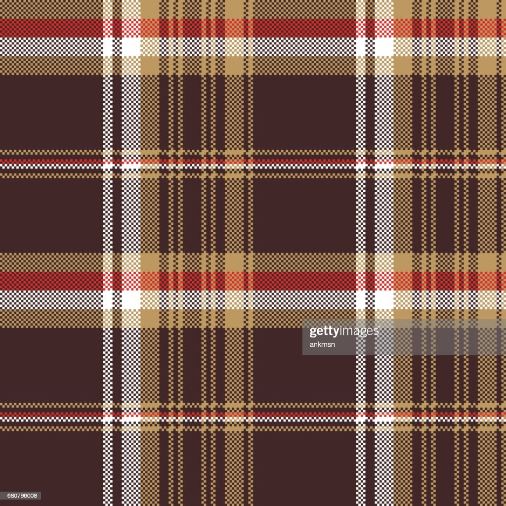 Brown Seamless Fabric Textures Check Brown Tartan Seamless Fabric Texture Stock Vector Getty Images