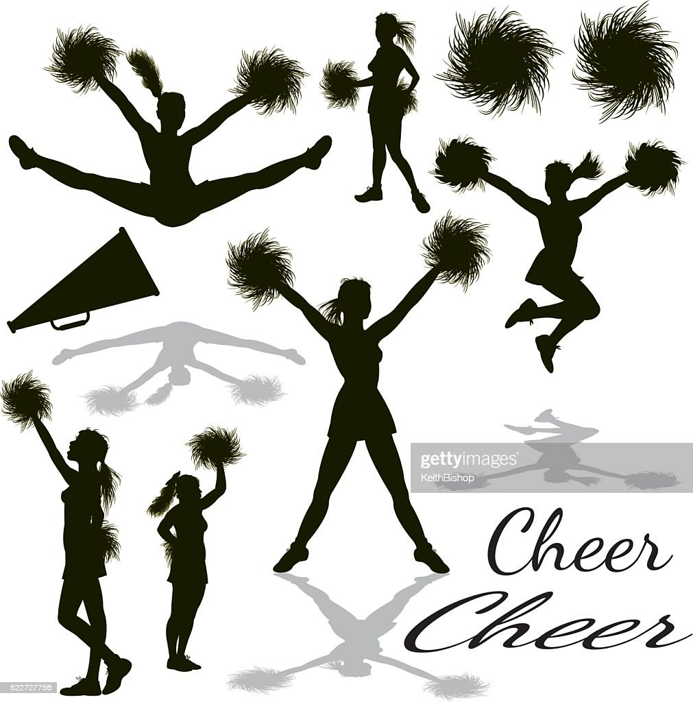 Cheerleader Graphic Clip Art Cheerleading Cheerleaders Equipment Vector Art Getty Images