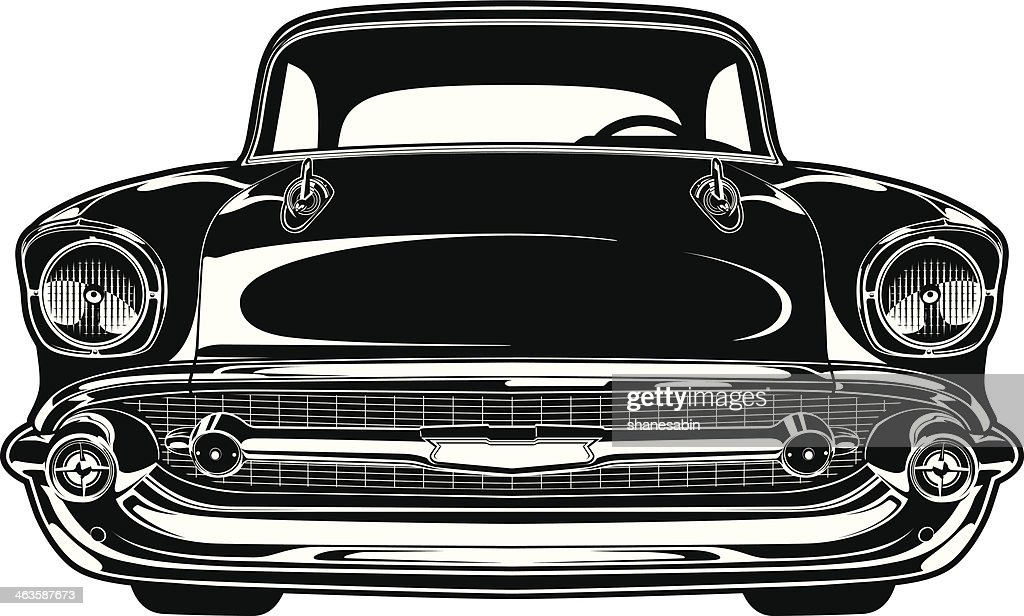 Classic Car Wallpaper 57 Chevy Chevy Bel Air 1956 Vector Art Getty Images