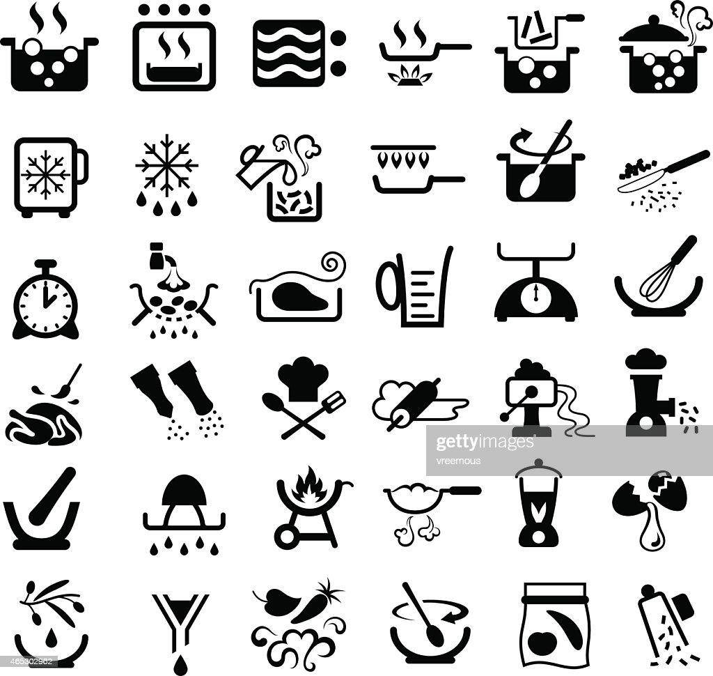 Simboli Cucina Cooking Symbols Vector Art Getty Images