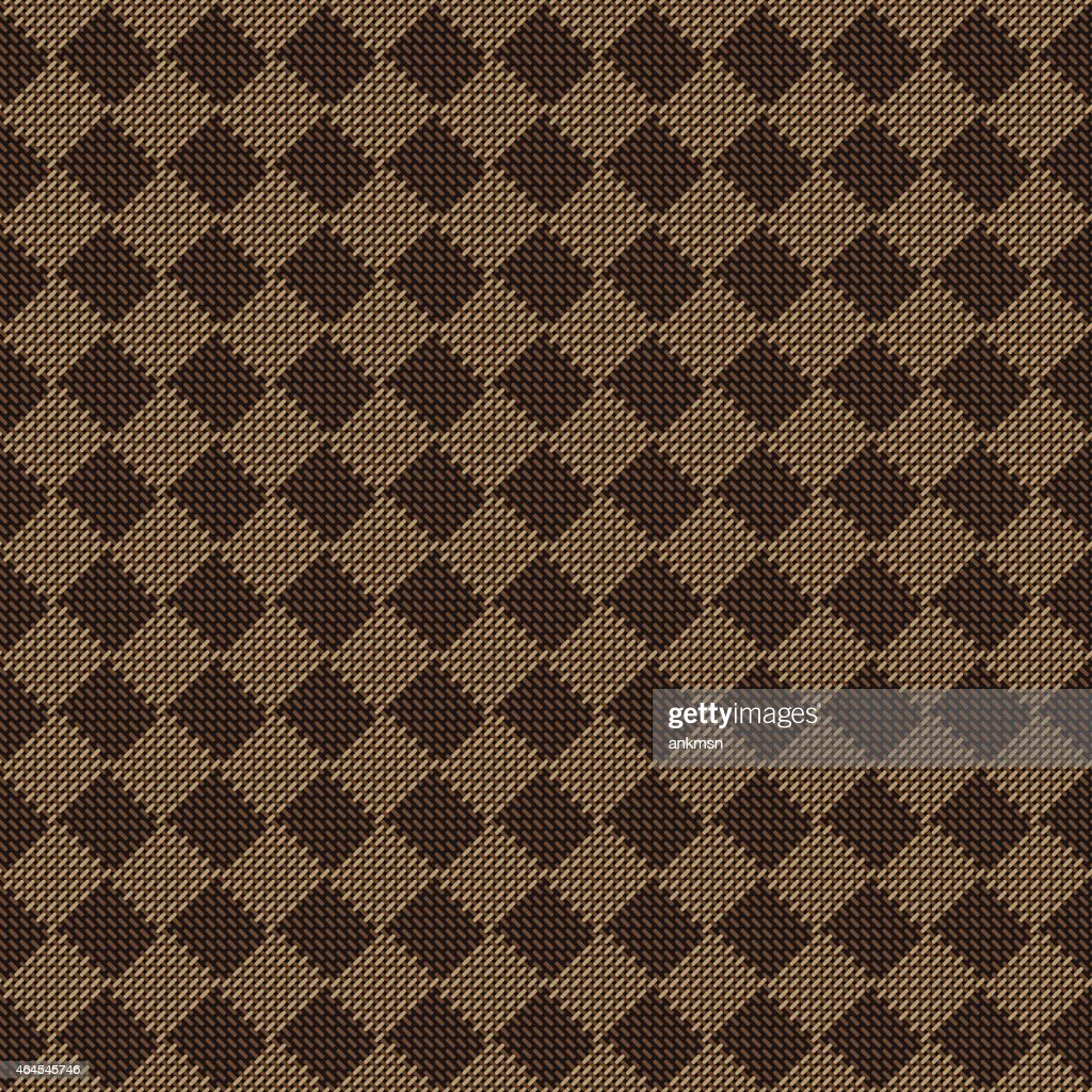 Brown Seamless Fabric Textures Diagonal Square Brown Beige Seamless Fabric Texture Pattern Stock