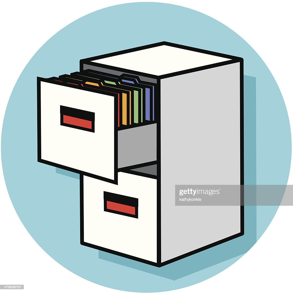 Filing Cabinet Icon Vector Art