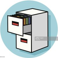 Filing Cabinet Icon Vector Art | Getty Images