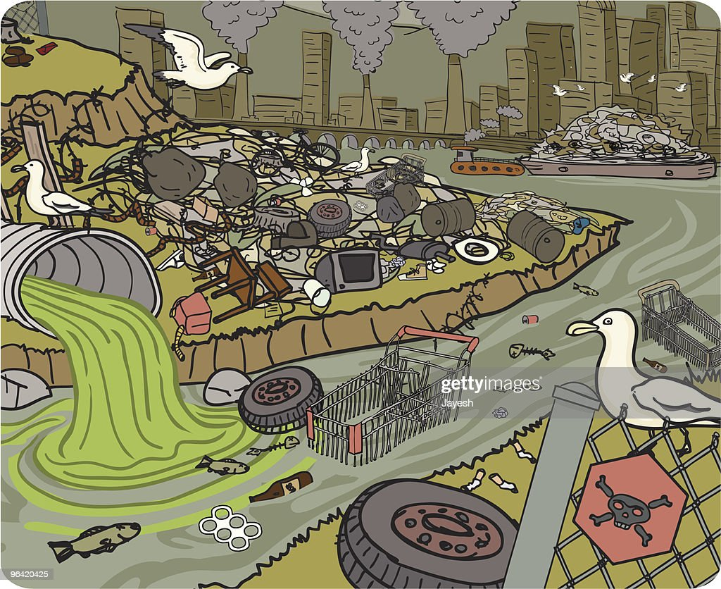 Water Pollution Stock Illustrations And Cartoons Getty