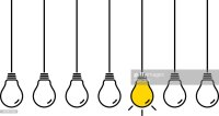 Hanging Light Bulbs Vector Art | Getty Images