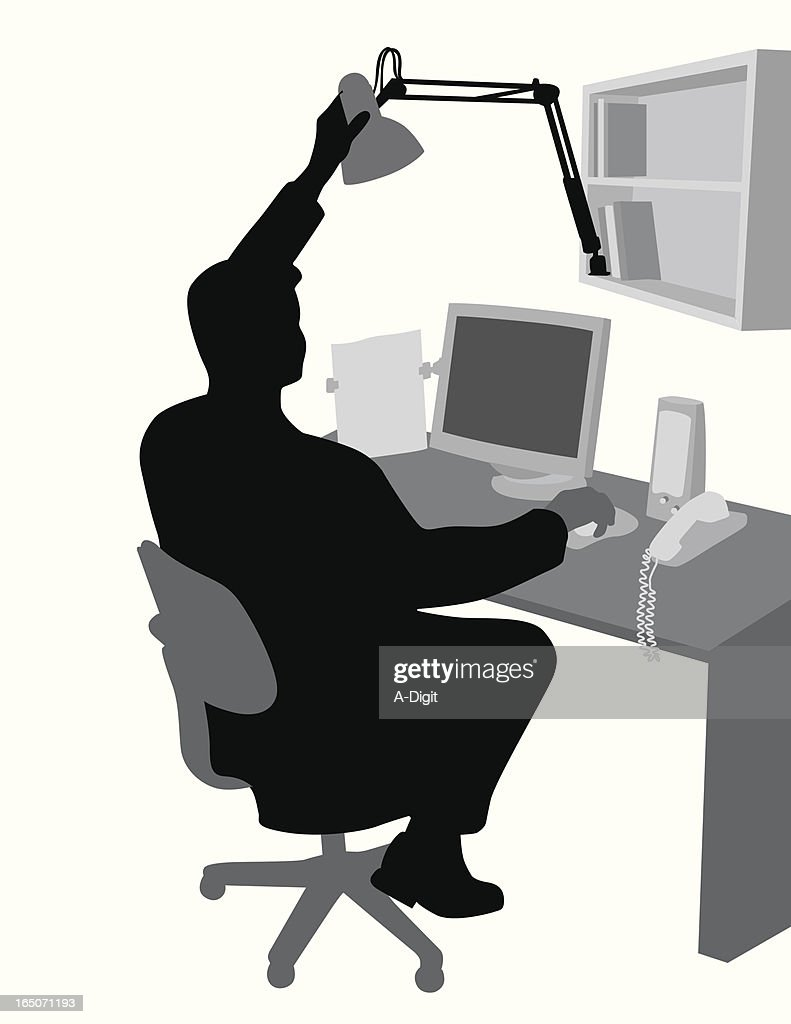 Homeoffice Jobs Schweiz Home Office Vector Silhouette Stock Illustration Getty Images
