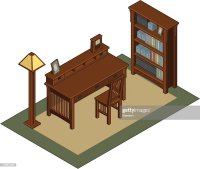 Isometric Office Furniture Vector Art | Getty Images