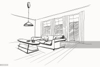 Living Room Interior Sketch Vector Art | Getty Images