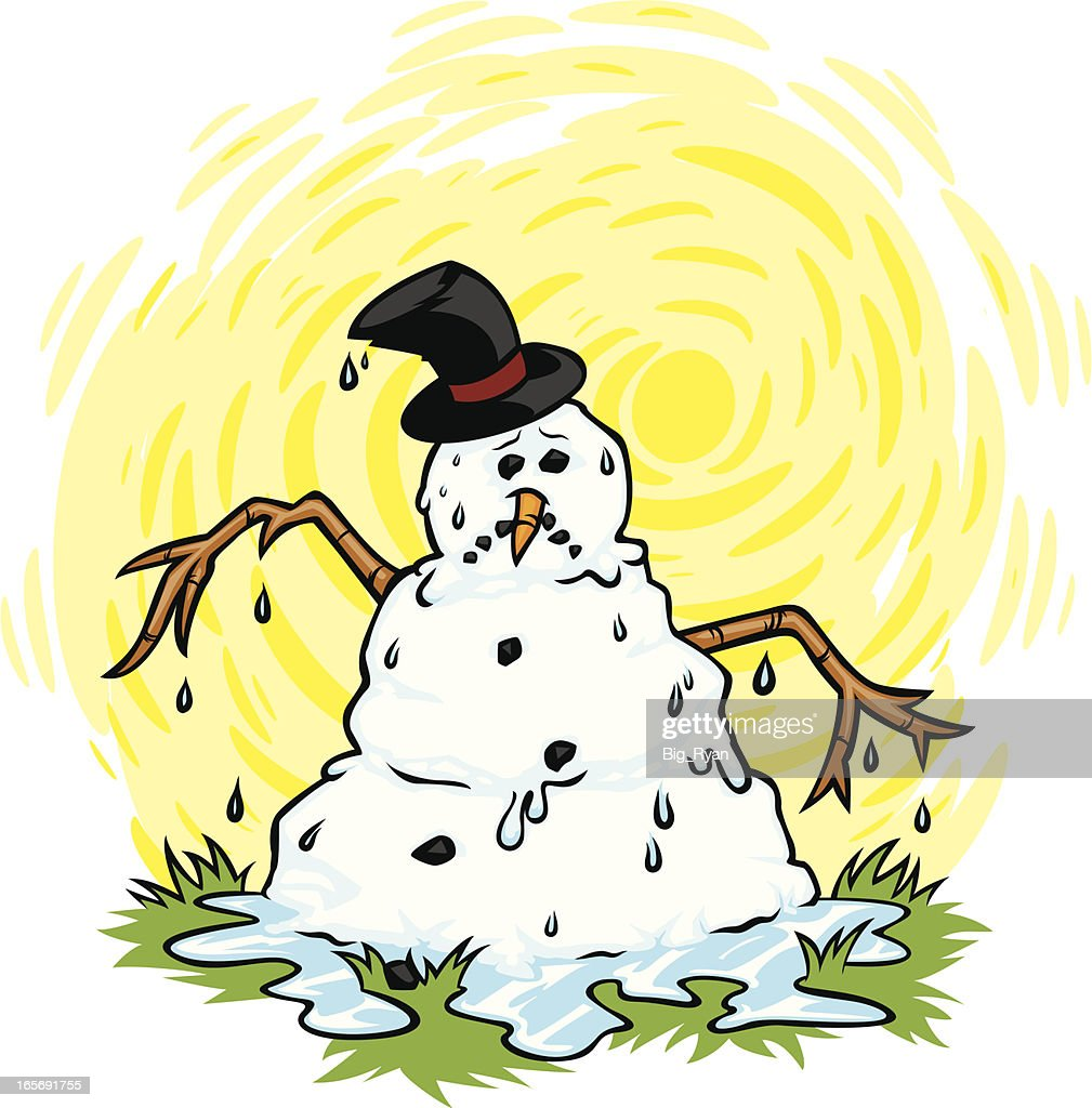 Melting Snowman High Res Vector Graphic Getty Images