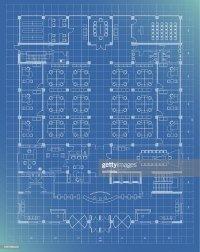 Office Building Plan Blueprint Entrance Floor Vector Art ...