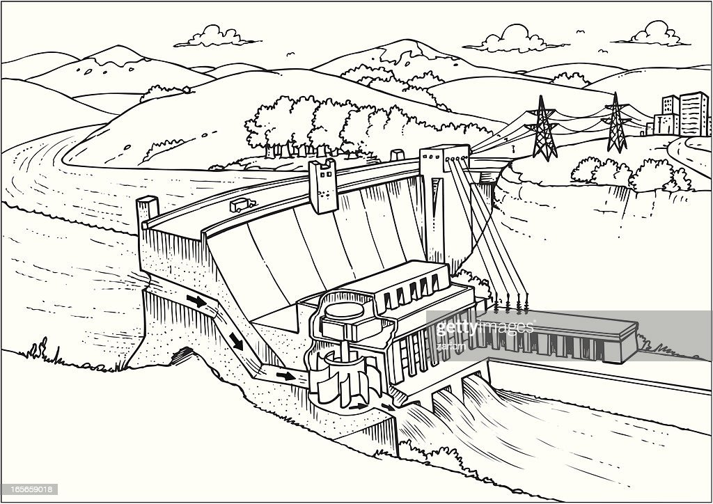 hydel power plant diagram