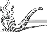 Smoking Tobacco Pipe Drawing Vector Art | Getty Images