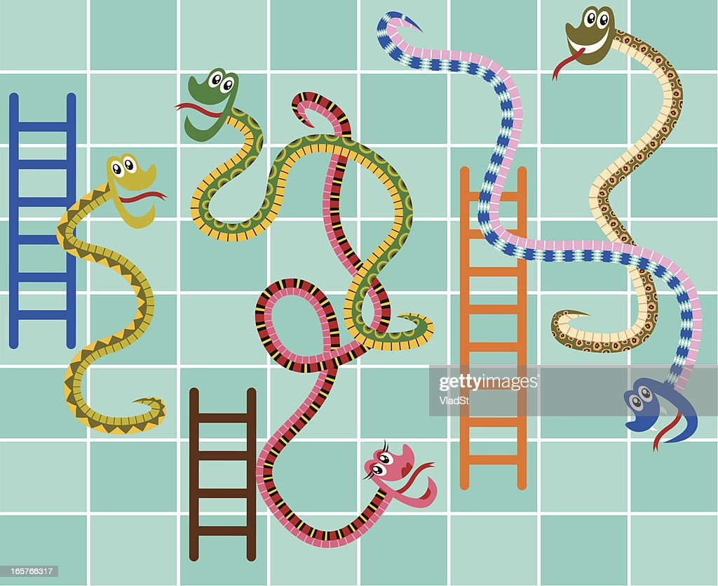 Monopoly Game Vector 60 Top Snakes And Ladders Stock Illustrations Clip Art