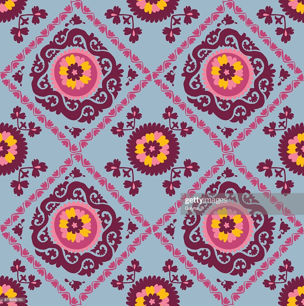 Asian Carpet Traditional Asian Carpet Embroidery Suzanne Vector Art Getty Images