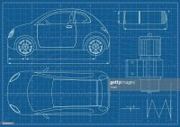 Vector Eco Car Blueprint stock vector - Getty Images