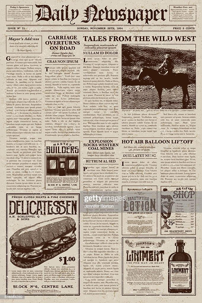 newspaper editorial template