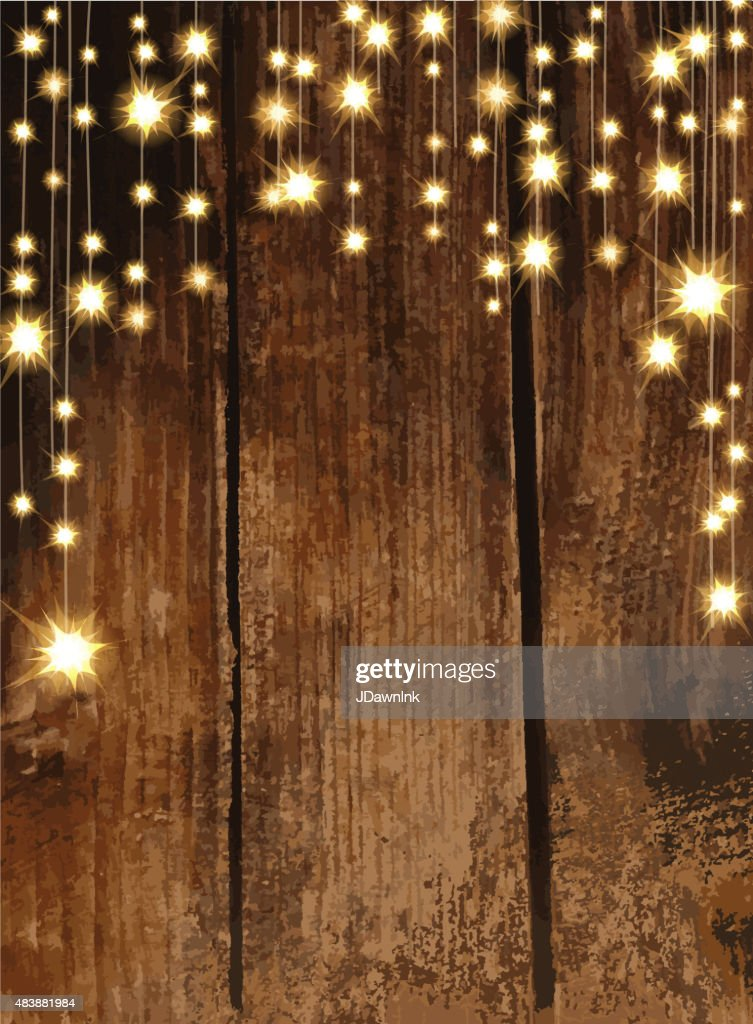 Fall String Lights Wallpaper Weddings Wooden Background With String Lights Vector Art Getty Images