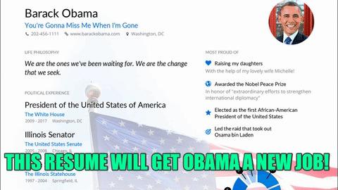 Enhancv GIFs - Find \ Share on GIPHY - barack obama resume