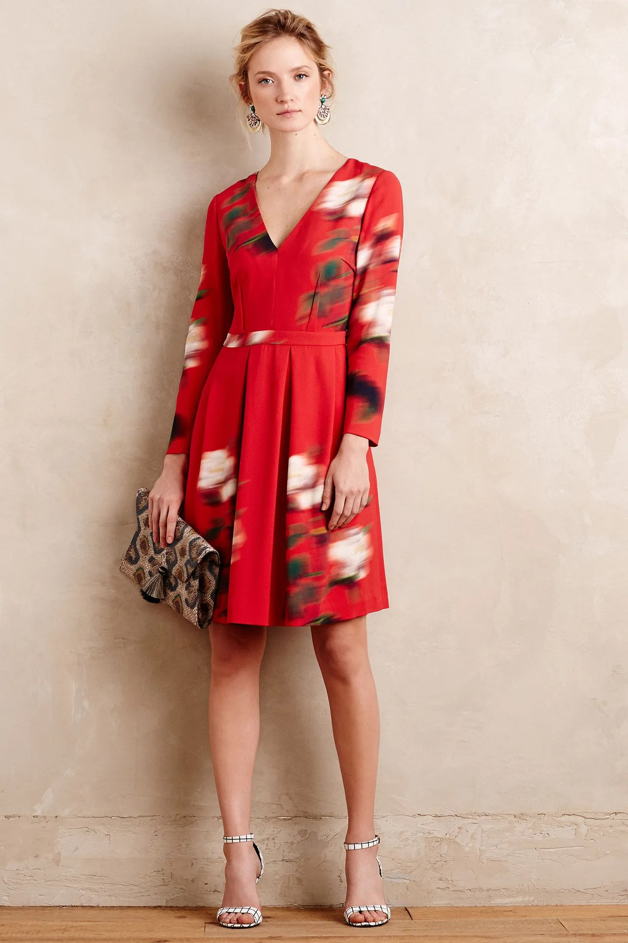 Contemporary Peter Som Anthropologie Collaboration Fall 2015 Red Floral Dress Dresses Work Are From Peter Som X Anthropologie Dress Tv Show Dress Hours wedding dress The Perfect Dress