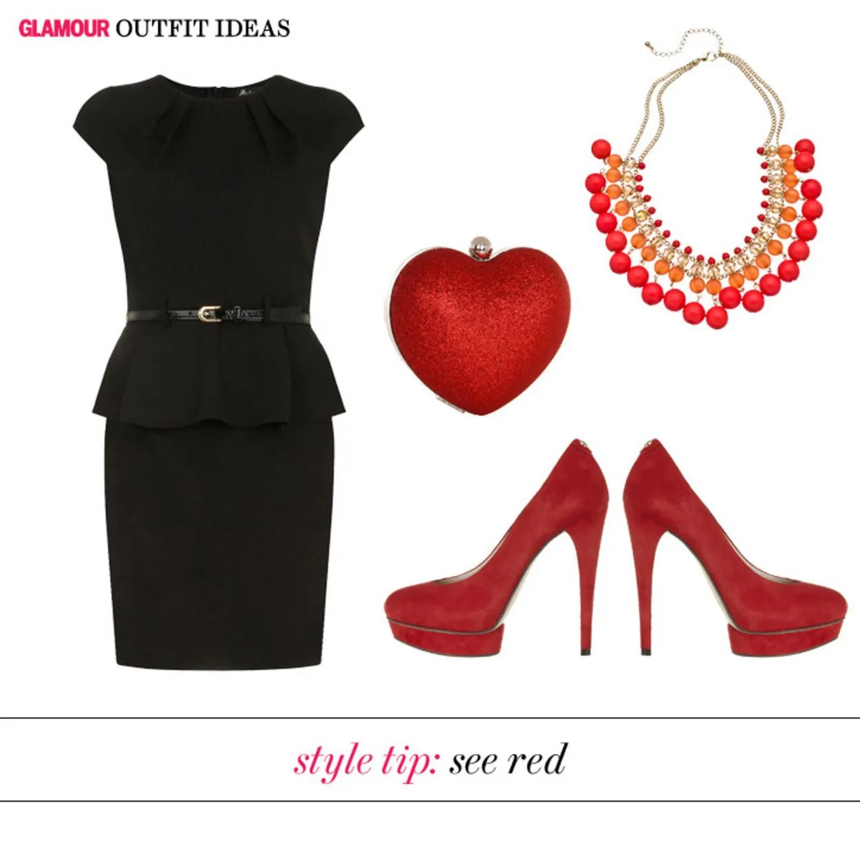 Black dress red heels accessories - Download The Accessories That Will Update A Little Black Dress