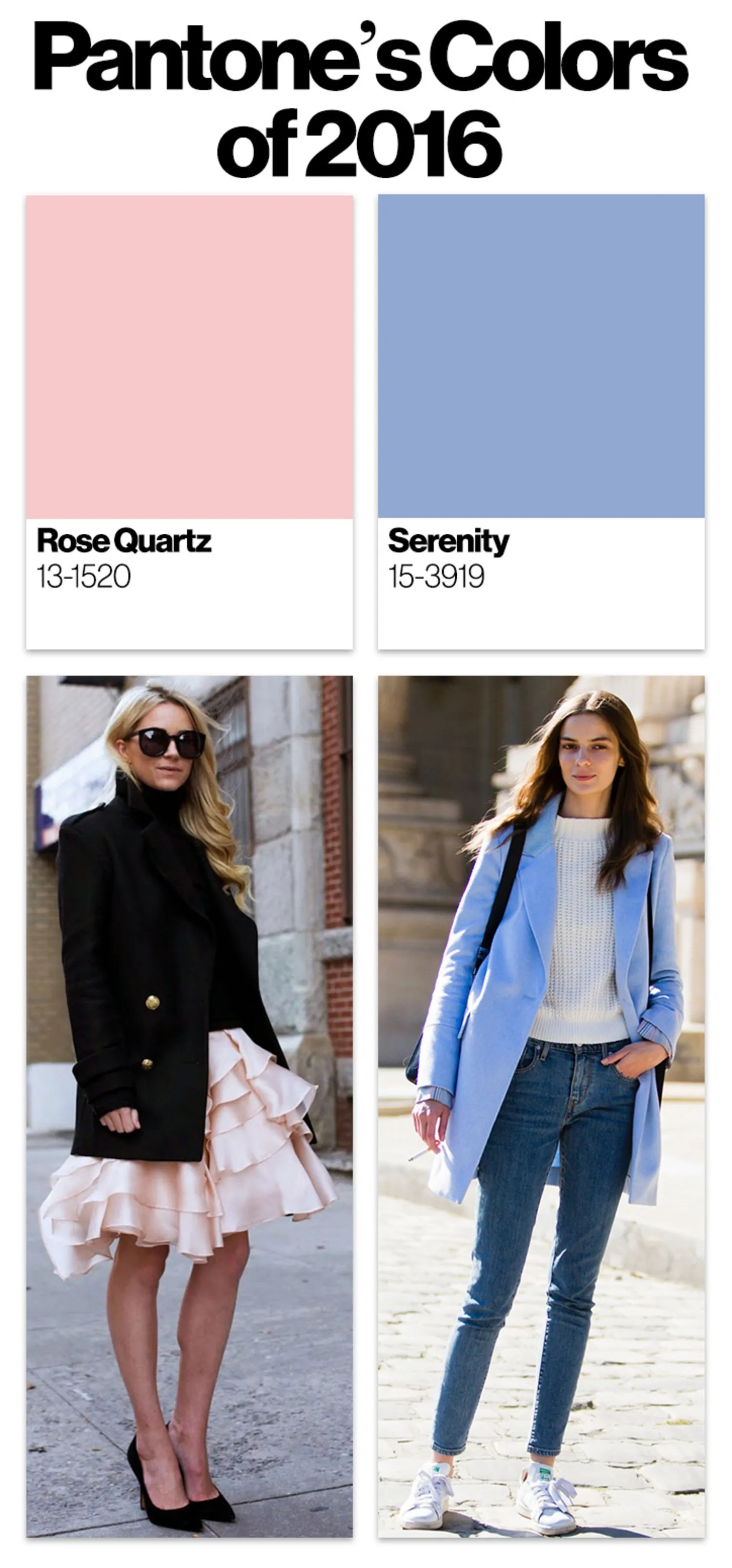 Pantone Color 2016 Outfits Using The Pantone Colors Of 2016 Serenity And Rose Quartz