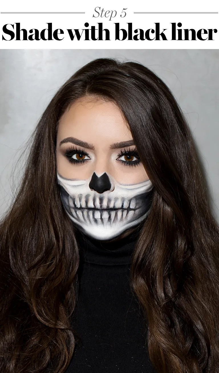 Halloween Make Up Anleitung Skeleton Makeup Tutorial Halloween 2017 The Prettiest Skeleton