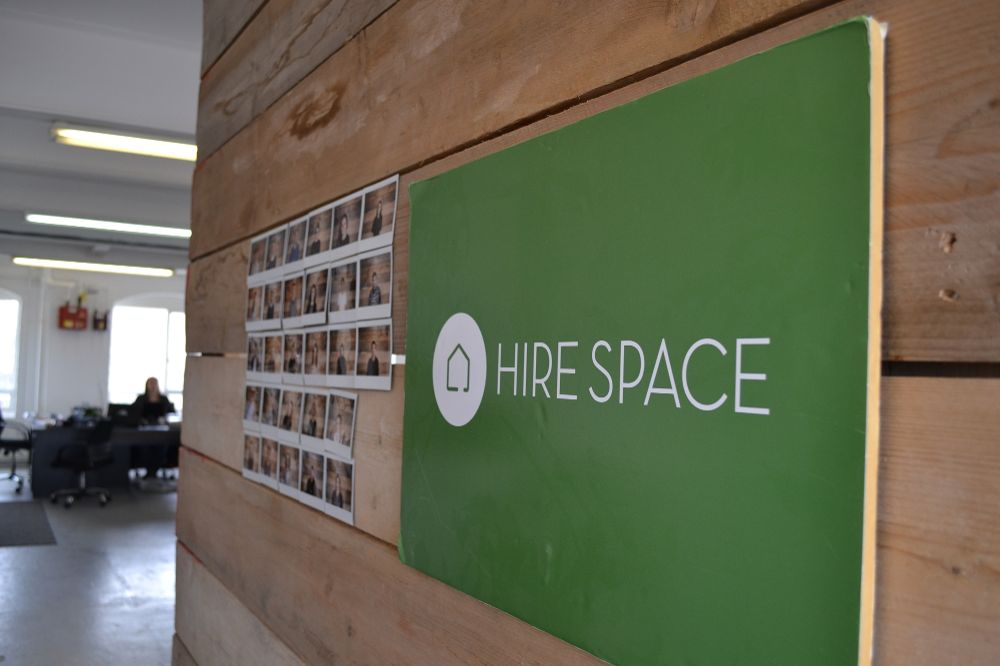 Our team photo wall - Hire Space Office Photo Glassdoor