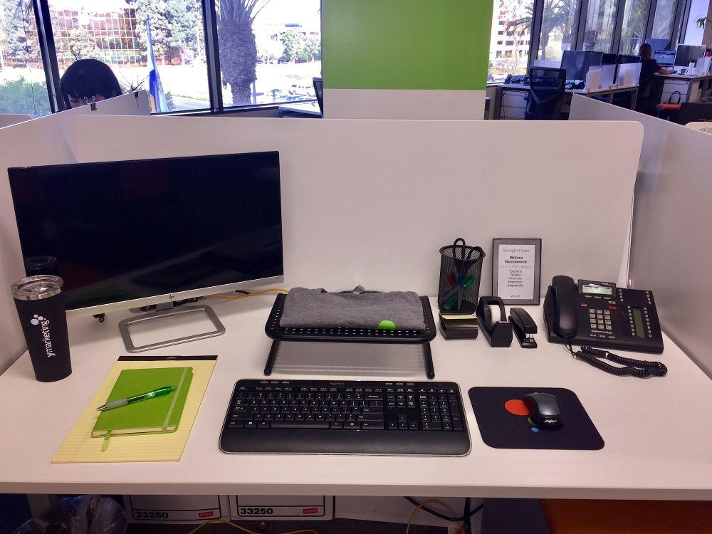 New hire desk set up Welcome - ymarketing Office Photo Glassdoor