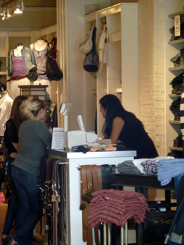 A sales associate helps custo - Lucky Brand Office Photo Glassdoor - sales associate