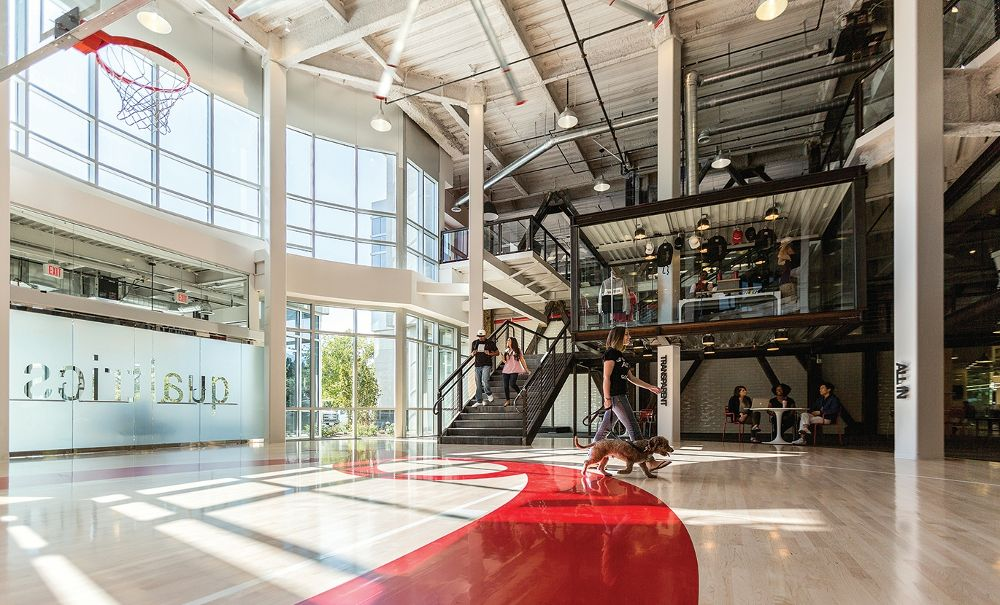 New building lobby and basket - Qualtrics Office Photo