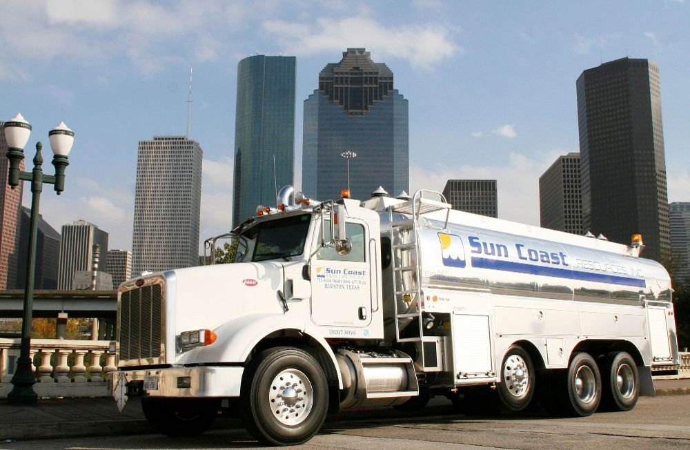 Bobtail Truck in Downtown Hou - Sun Coast Resources Office Photo