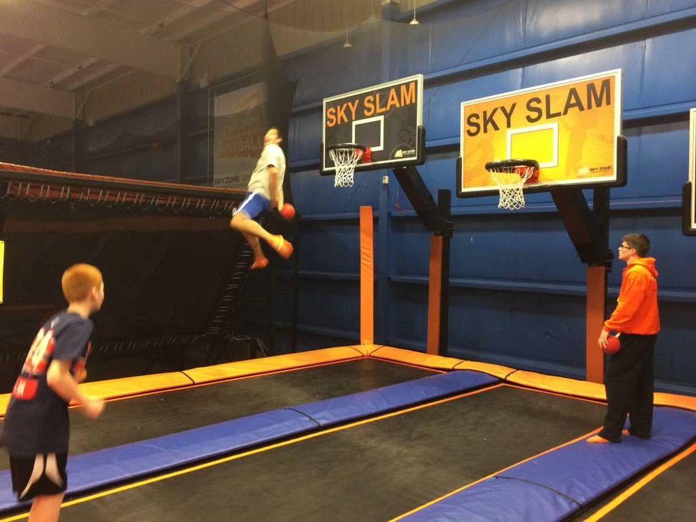Kids dunking at Sky slam - Sky Zone Office Photo Glassdoor