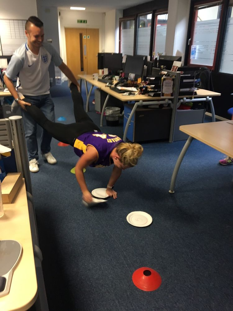 Its all fun and games in the - Guidant Group Office Photo - office fun games