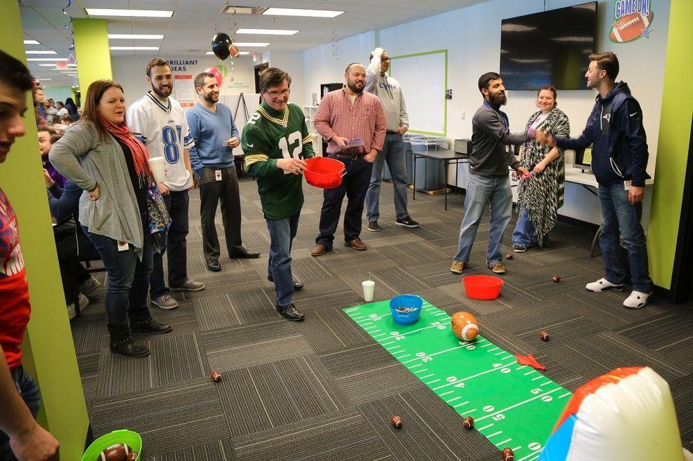 Super Bowl 2017- Team members - United Shore Office Photo Glassdoor - office fun games