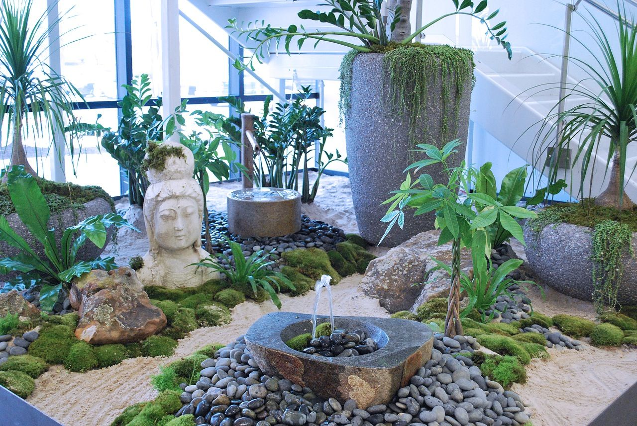 Office Zen Garden Zen Garden In Lobby Genesis Today Office Photo